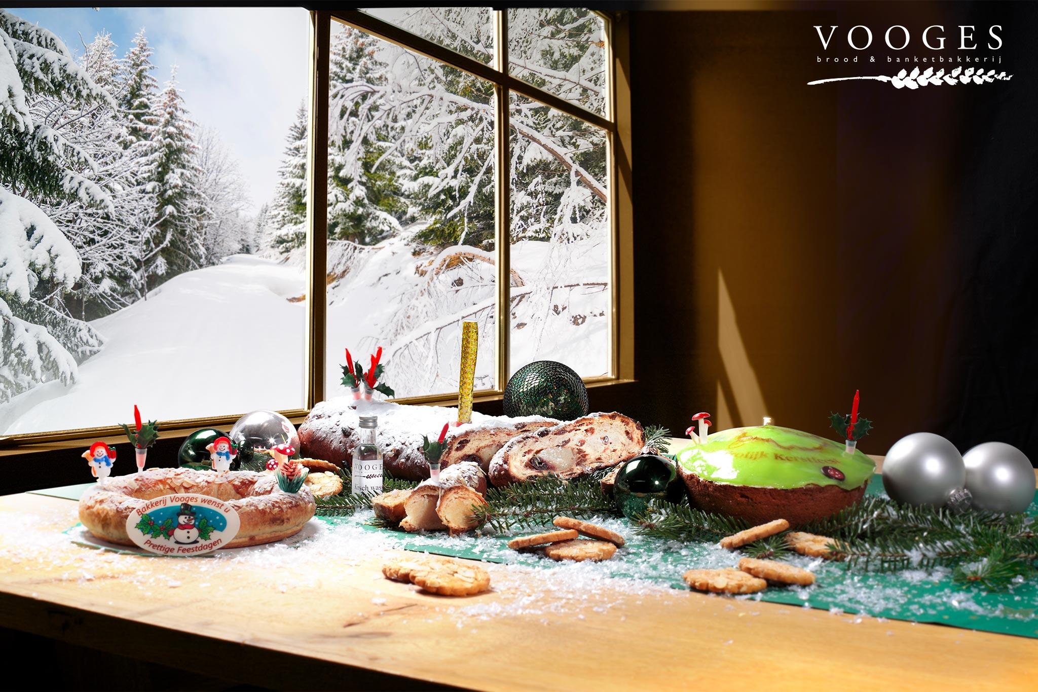 Kerst vier je met brood en gebak van bakkerij Vooges