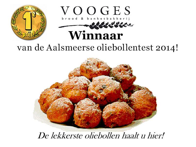 Bakkerij Vooges - winnaar van de Aalsmeerse oliebollentest 2014!